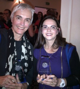 Margot Lanagan - and two of her awards!